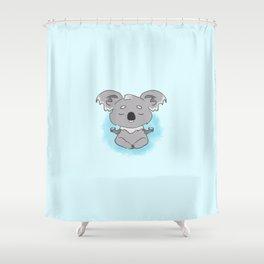 Calm happy meditating Koala Shower Curtain