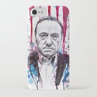 house of cards iPhone & iPod Cases featuring Frank Underwood - House of Cards by Denise Esposito