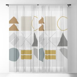 Mid West Geometric 02 Sheer Curtain