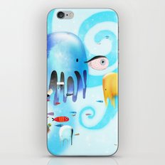 Octopus Traveling Golfo de México iPhone & iPod Skin