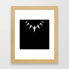 Black panther necklace Framed Art Print