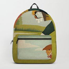 Golfer Vintage Golf Backpack