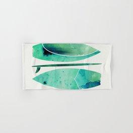 Watercolor Surfboards Hand & Bath Towel