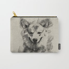 Pembroke Welsh Corgi Pencil Sketch Carry-All Pouch