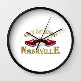 Nashville. City of music Wall Clock