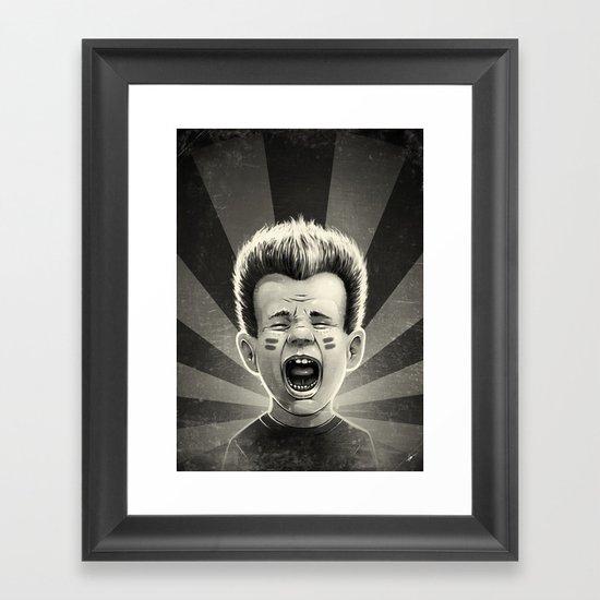 Noise Black Framed Art Print
