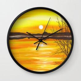 Settling Sun Wall Clock