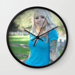 Girl Next Door Wall Clock