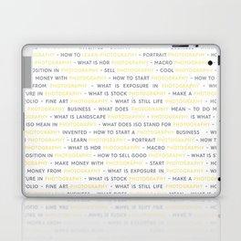 Yellow Photography Keywords Laptop & iPad Skin