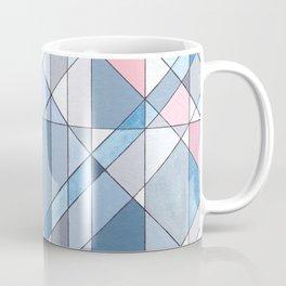 Triangle Pattern no.17 Light Blues Coffee Mug