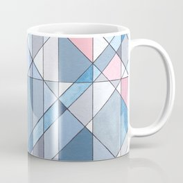 Triangle Pattern no.17 Light Blues Coffee Mug