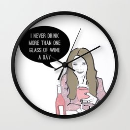 A glass a day Wall Clock