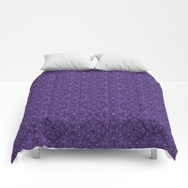 Purple Swirl pattern Comforters
