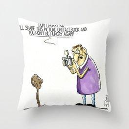 Social media ComicStrip Throw Pillow