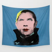 dracula Wall Tapestries featuring The Dazzling Dracula by sbs' things