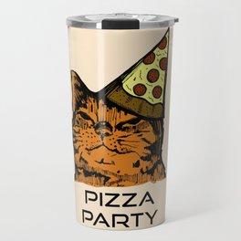 Pizza Party Cat: Funny Animal Kitty Travel Mug