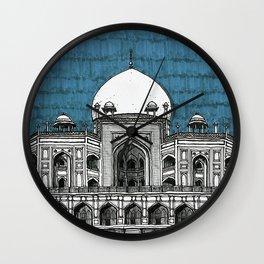 Humayun's Tomb (Teal) Wall Clock