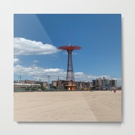 Iconic Coney Island Parachute Photograph Metal Print