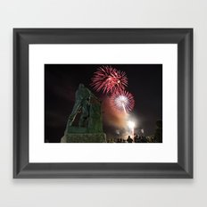Fourth of July Fireworks in Gloucester Framed Art Print