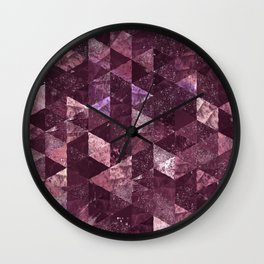 Abstract Geometric Background #24 Wall Clock