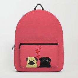 Pugs In Love Pink Backpack