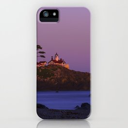 Battery Point Lighthouse at sunset, Crescent City, Del Norte County, California iPhone Case