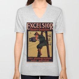 Old Sign / Affiche Excelsior Ilustré Unisex V-Neck