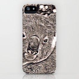 Rustic Style - Koala iPhone Case