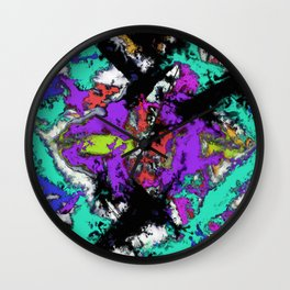 Shattered 2 Wall Clock