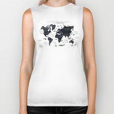 The World Map Biker Tank
