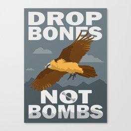 Lammergeier: Bones Not Bombs Canvas Print
