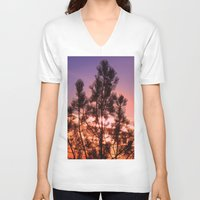paradise V-neck T-shirts featuring Paradise by Mary Spinney