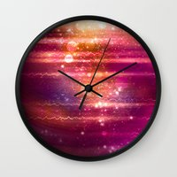 halo Wall Clocks featuring Sun Halo by Tom Lee