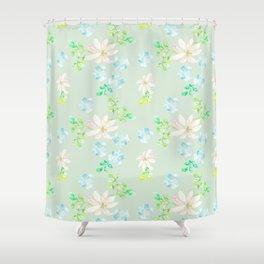 Flowers for a funny day Shower Curtain