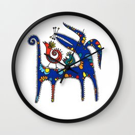 Blue Dog Wall Clock