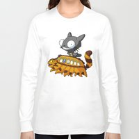invader zim Long Sleeve T-shirts featuring My Invader Neighbor by HelloTwinsies