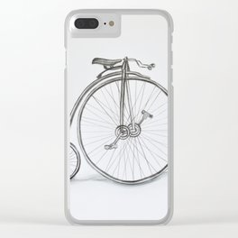 Vintage retro bicycle Clear iPhone Case