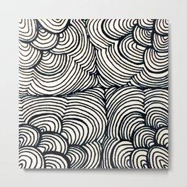 Zentangle #12 Metal Print