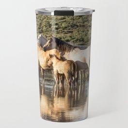 Reflection of a Mustang Family Travel Mug