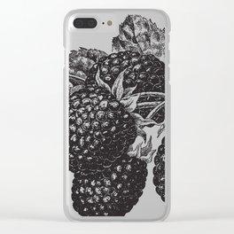 Vintage Blackberry Clear iPhone Case