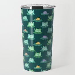 Frogs and Water Lilies Travel Mug