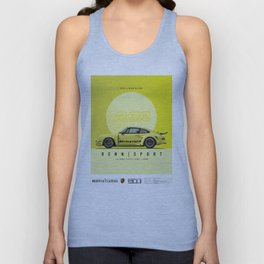 1974 ACID YELLOW 911 RSR OUTLAW FRANK CASSIDY Unisex Tank Top