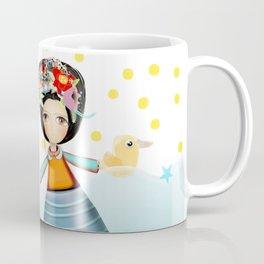 Frida and Ducks Yellow Polka Dots Coffee Mug