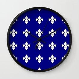 Fleur de lys 2-lis,lily,monarchy,king,queen,monarquia. Wall Clock