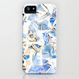 Mosaic of Barcelona XII iPhone Case
