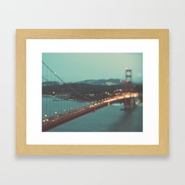 San Francisco Golden Gate Bridge, Sweet Light Framed Art Print