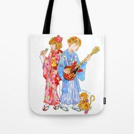 Kimono Kids Tote Bag