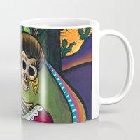 dia de los muertos Mugs featuring Dia de los Muertos by Eric Carlstrom