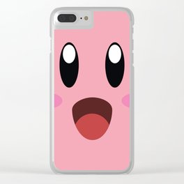 Kirby face illustration Clear iPhone Case