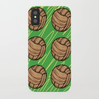football iPhone & iPod Cases featuring Football by h.oax